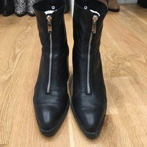Black leather Zara Trafulc boots (EU 42)